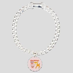 Personalized Woodland Bi Charm Bracelet, One Charm