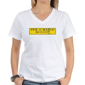 Per San Marco, Venice (IT) Women's V-Neck T-Shirt
