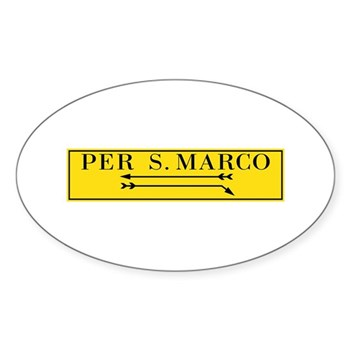 Per San Marco, Venice (IT) Sticker (Oval)