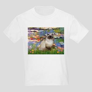 Lilies & Himalayan cat Kids Light T-Shirt