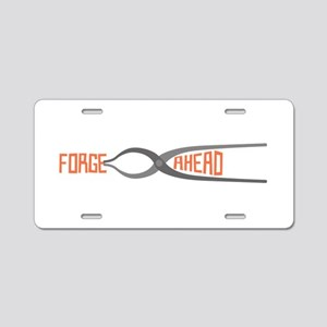 Forge Ahead Aluminum License Plate