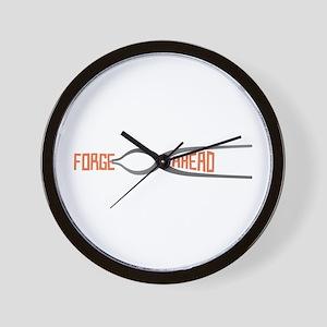 Forge Ahead Wall Clock