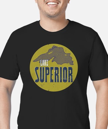 Funny Michigan superior Men's Fitted T-Shirt (dark)