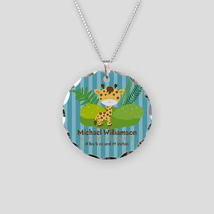 Jungle Safari Personalized B Necklace Circle Charm