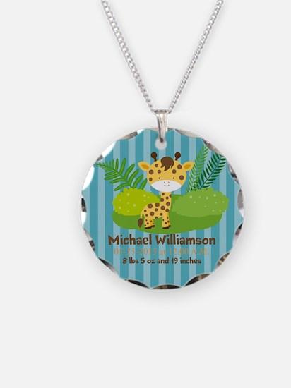Jungle Safari Personalized B Necklace