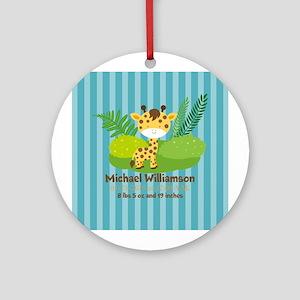 Jungle Safari Personalized Birth Ornament (Round)