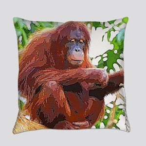 Painted Orang Everyday Pillow