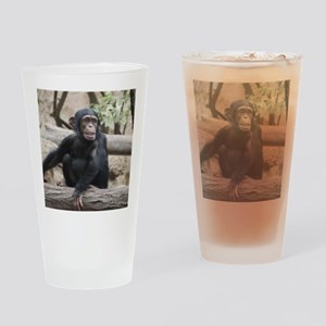 Young Chimp 02 Drinking Glass