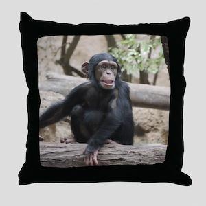 Young Chimp 02 Throw Pillow