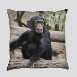 Young Chimp 02 Everyday Pillow