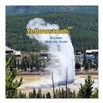 "Yellowstone Square Car Magnet 3"" x 3"""