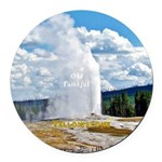 Yellowstone Round Car Magnet