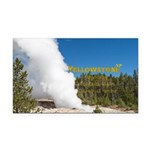 Yellowstone Rectangle Car Magnet