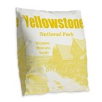 Yellowstone Burlap Throw Pillow