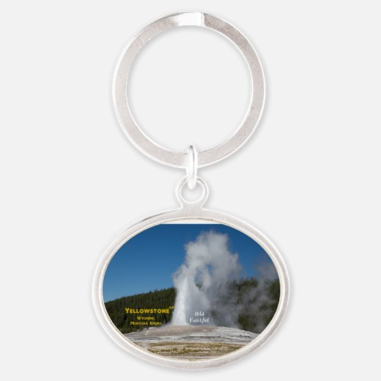 Yellowstone Oval Keychain
