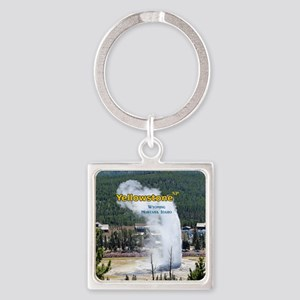 Yellowstone Square Keychain