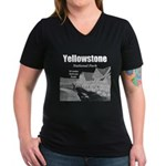 Yellowstone Women's V-Neck Dark T-Shirt