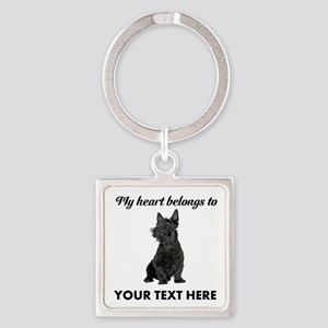 Personalized Scottish Terrier Square Keychain