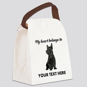 Personalized Scottish Terrier Canvas Lunch Bag
