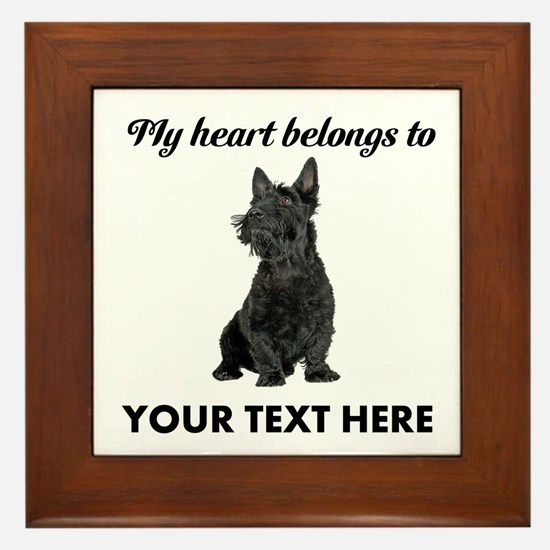 Personalized Scottish Terrier Framed Tile