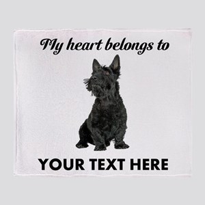 Personalized Scottish Terrier Throw Blanket