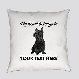 Personalized Scottish Terrier Everyday Pillow