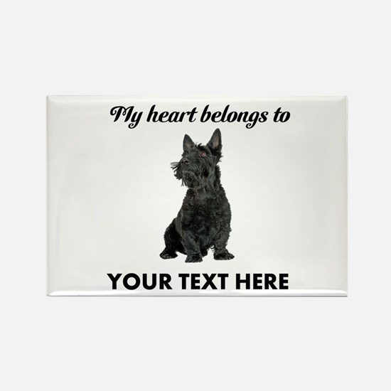 Personalized Scottish Terrier Rectangle Magnet