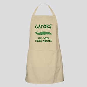 Gators hug with their mouths Apron