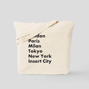 Insert City Tote Bag
