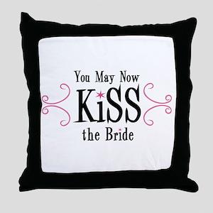 Kiss The Bride Throw Pillow
