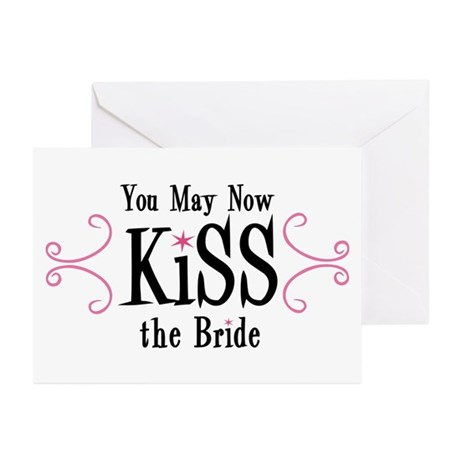 Kiss The Bride Greeting Cards (Pk of 20)