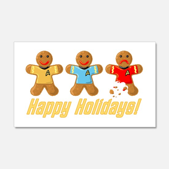 Star Trek Gingerbread Men Wall Sticker