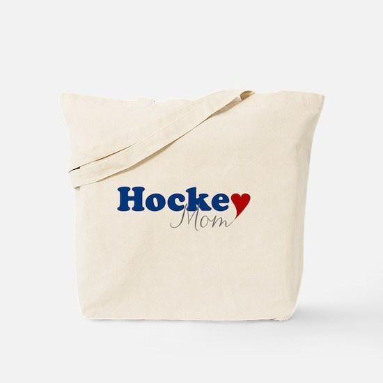 Hockey Mom with Heart Tote Bag