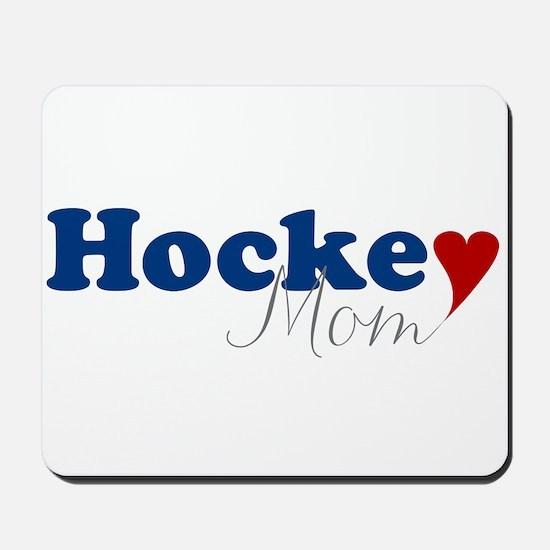 Hockey Mom with Heart Mousepad