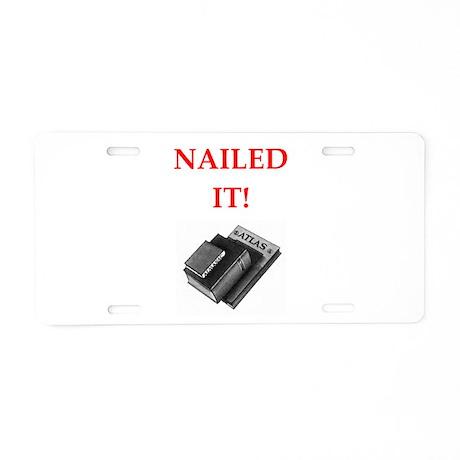 trivia joke Aluminum License Plate by TrivialHumor