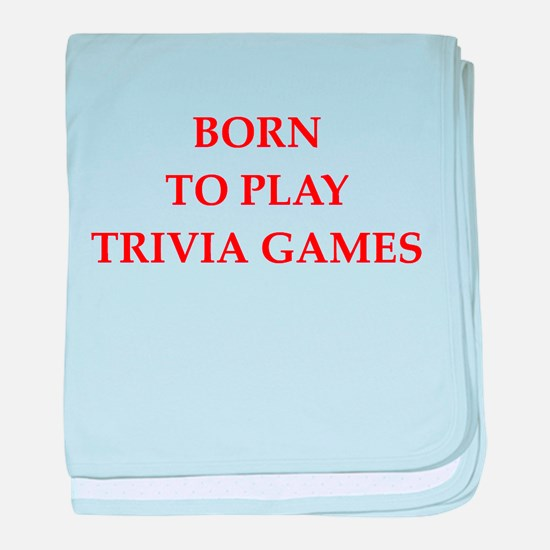 trivia joke baby blanket