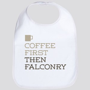 Coffee Then Falconry Bib