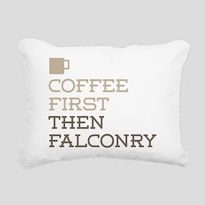 Coffee Then Falconry Rectangular Canvas Pillow