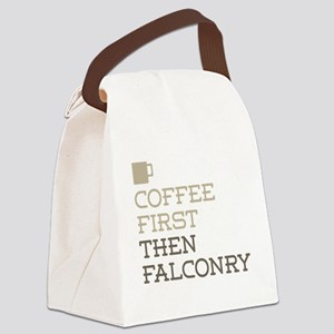 Coffee Then Falconry Canvas Lunch Bag