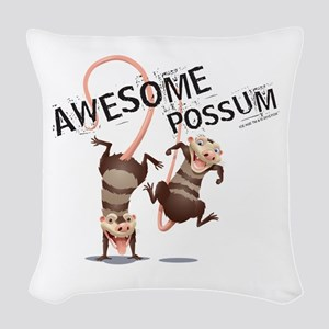 Ice Age Awesome Possum Woven Throw Pillow