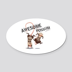 Ice Age Awesome Possum Oval Car Magnet