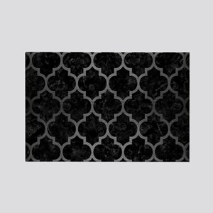 TILE1 BLACK MARBLE & GRAY BRUSHED Rectangle Magnet