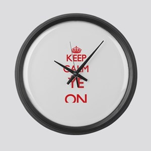Keep Calm and Ye ON Large Wall Clock