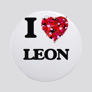 I Love Leon Ornament (Round)