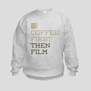 Coffee Then Film Kids Sweatshirt