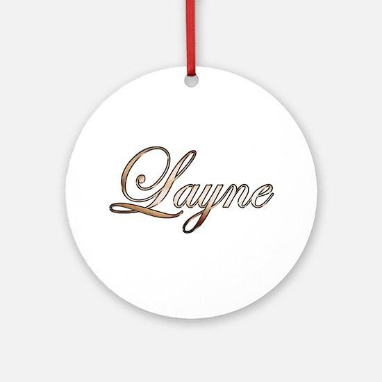 Gold Layne Round Ornament