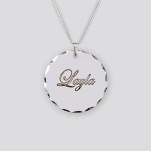 Gold Layla Necklace Circle Charm