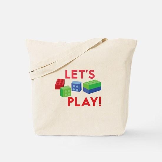 Lego Blocks Tote Bag