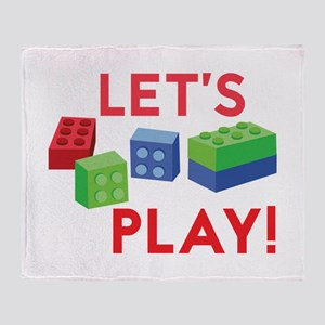 Lego Blocks Throw Blanket