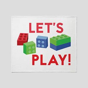 Lego Blocks Throw Blanket